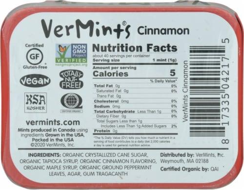 VerMints CinnaMint Organic Mints Perspective: back