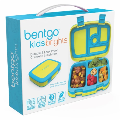 Bentgo Kids Brights Durable & Leak Proof Children's Lunch Box - Citrus Yellow Perspective: back
