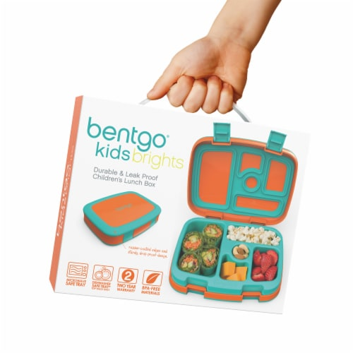 Bentgo Kids Durable & Leak Proof Children's Lunch Box - Orange Perspective: back