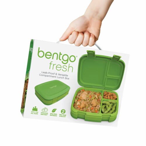 Bentgo Fresh Leak-Proof & Versatile Compartment Lunch Box - Green Perspective: back