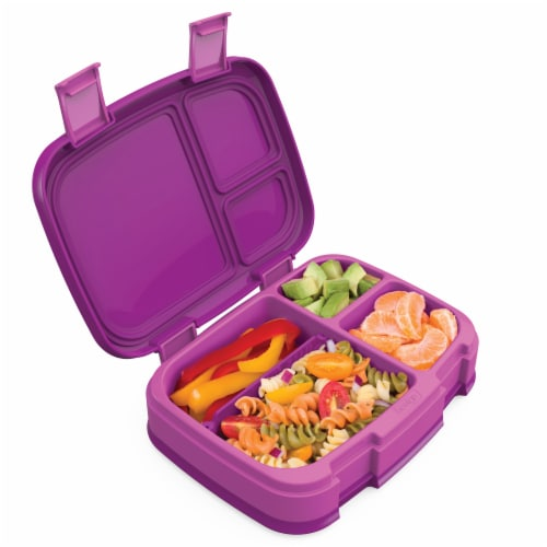 Bentgo Fresh Leak-Proof & Versatile Compartment Lunch Box - Purple Perspective: back