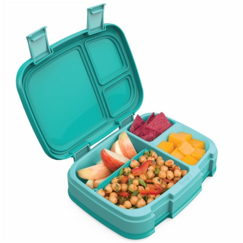 Bentgo Fresh Bento Box - Turquoise Perspective: back