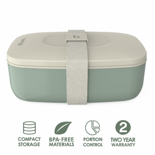 Bentgo Classic On-The-Go Food Container - Khaki Green Perspective: back