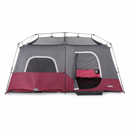 CORE Instant Cabin 14 x 9 Foot 9 Person Cabin Tent with 60 Second Assembly, Red Perspective: back