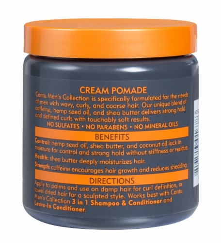 Cantu Men's Shea Butter Styling Cream Pomade Perspective: back
