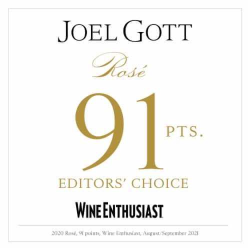 Joel Gott Central Coast Rose Wine Perspective: back