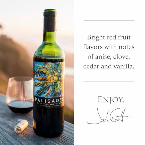 Joel Gott Palisades California Artist Series Red Wine 750mL Wine Bottle Perspective: back