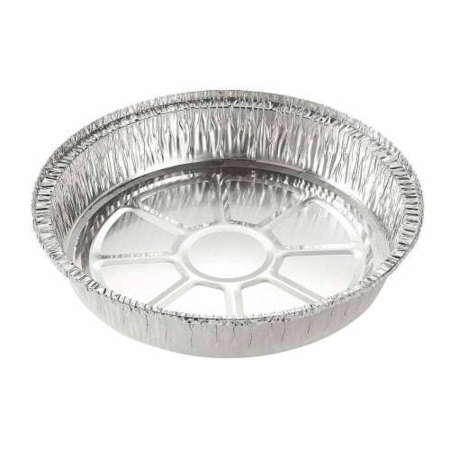 Aluminum Foil Pans - 25-Piece Round Disposable Tin Pans with Flat Board Lids Perspective: back