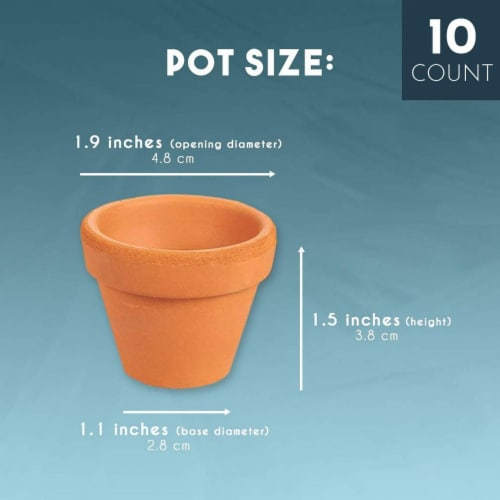 Juvale 10-Count Mini Terra Cotta Flower Pots - Ceramic Pottery Clay Planters Perspective: back
