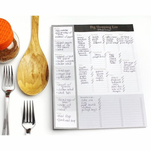 Large Magnetic Grocery, Shopping List Notepads for Fridge (156 Sheets, 3-Pack) Perspective: back