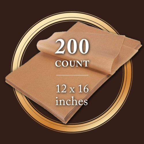 "200 Sheet Non-Stick Food Grade Unbleached Parchment Paper For Baking, 12""x16"" Perspective: back"