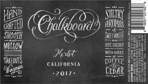 Chalkboard Merlot Perspective: back