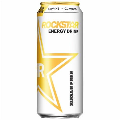 Rockstar Sugar Free Energy Drink Perspective: back