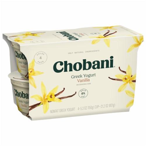 Chobani® Blended Vanilla Greek Yogurt Perspective: back