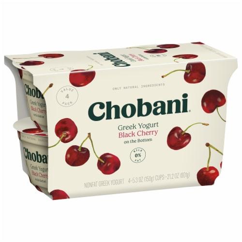Chobani® Black Cherry on the Bottom Non-Fat Greek Yogurt Perspective: back