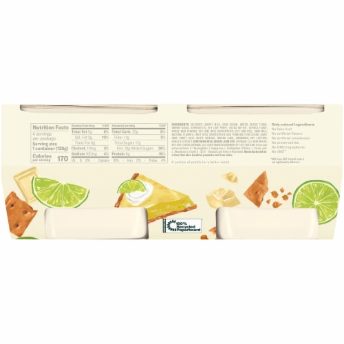 Chobani Flip Key Lime Crumble Low-Fat Greek Yogurt Perspective: back