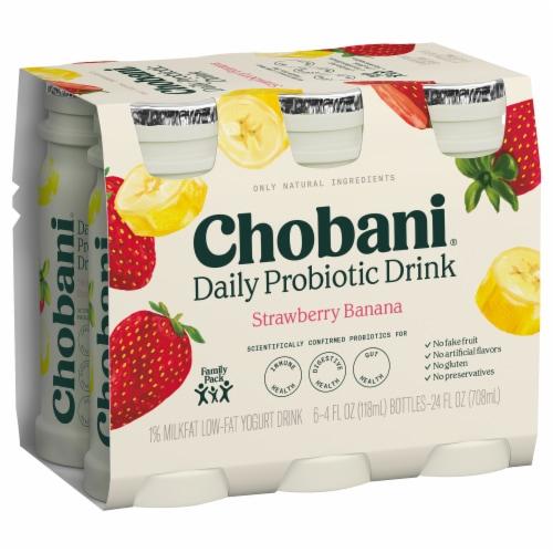 Chobani Probiotic Blueberry Pomegranate Yogurt Drink Perspective: back