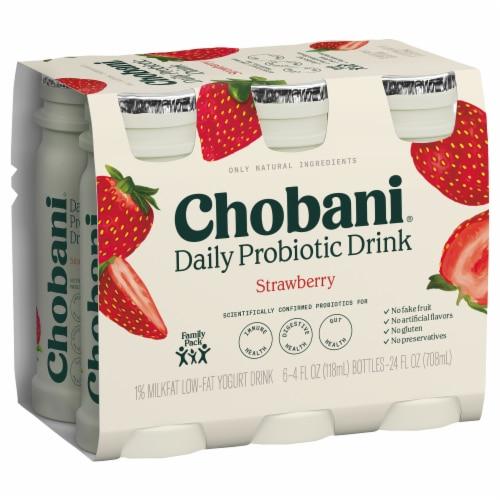 Chobani Probiotic Raspberry Acai Berry Yogurt Drink Perspective: back