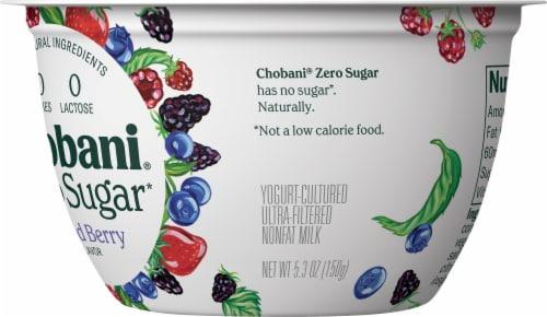 Chobani® with Zero Sugar Mixed Berry Greek Yogurt Perspective: back