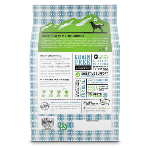 I and Love and You Naked Essentials Lamb & Bison Dog Food Perspective: back