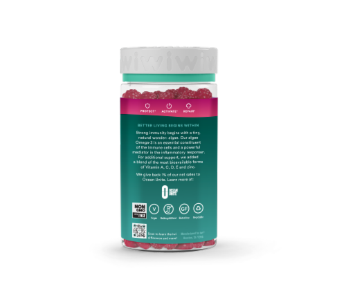 iwi Mixed Berry Immunity Gummies Perspective: back