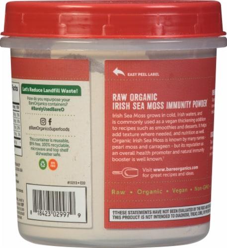 BareOrganics® Gluten Free Raw Irish Moss Powder Perspective: back