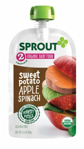 Sprout Sweet Potato Apple Spinach Stage 2 Baby Food Perspective: back