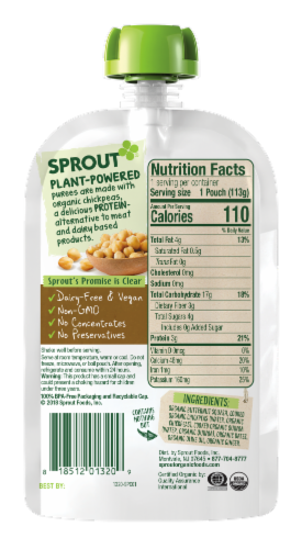 Sprout Organic Butternut Chickpea Quinoa & Dates Stage 3 Baby Food Perspective: back