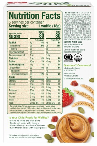 Sprout Organic Wafflez Pumpkin Butter & Jelly Baby Food 5 Count Perspective: back