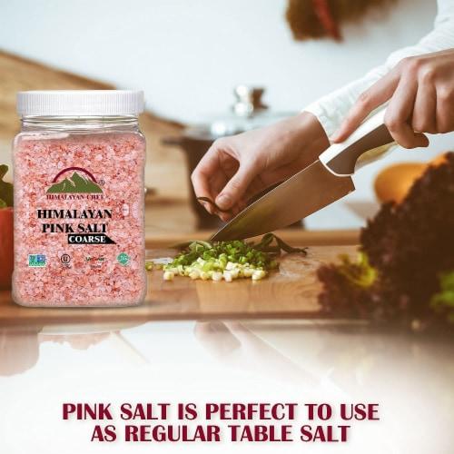 Himalayan Chef Pink Salt, 100% Natural, Coarse, Ideal for Salt Grinders & Salt Mills | 5 lbs. Perspective: back