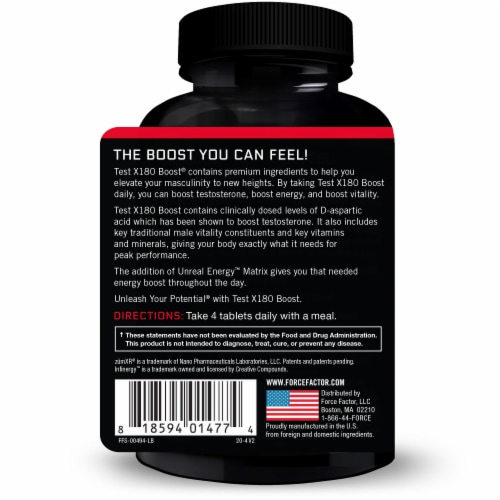 Force Factor Testosterone Booster Perspective: back
