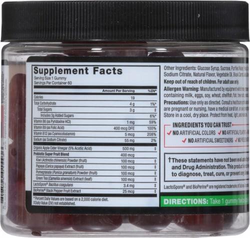 Force Factor® ProbioSlim Apple Cider Vinegar Gummies Perspective: back