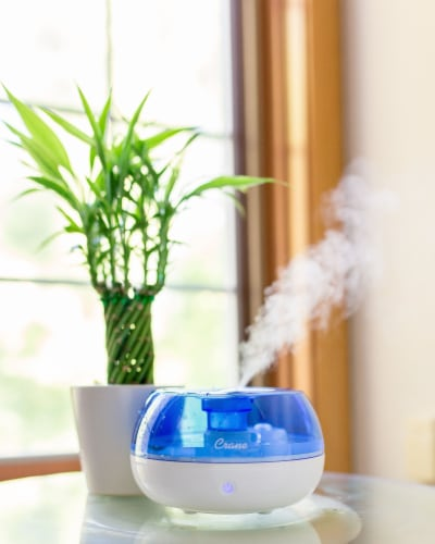 Crane Ultrasonic Cool Mist Humidifier - Blue/White Perspective: back