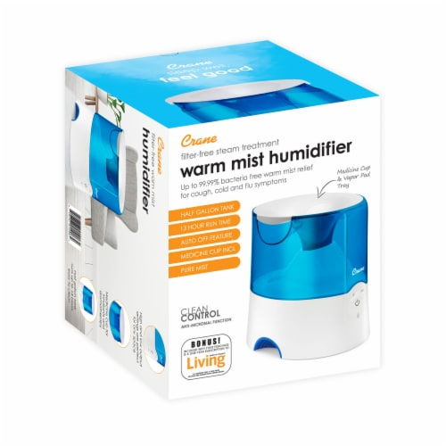 Crane Warm Mist Humidifier - Blue/White Perspective: back