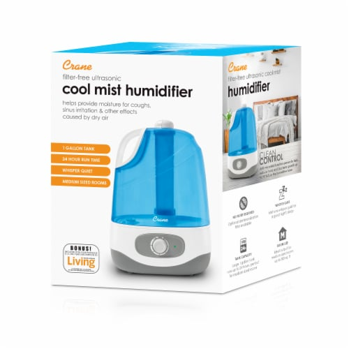 Crane Cool Mist Humidifier - Blue/White Perspective: back