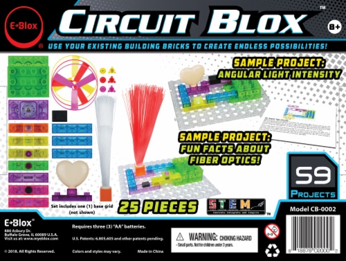 E-Blox Circuit Blox LED Building Block Set Perspective: back