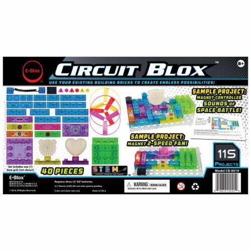 E-Blox Circuit Blox LED Colorful Building Set Perspective: back