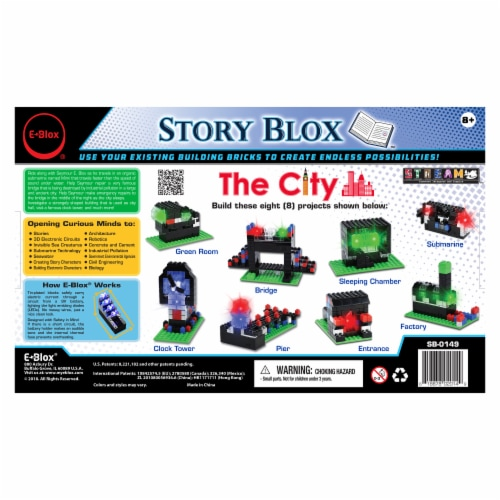 E-Blox The City Story Blox Building Set Perspective: back