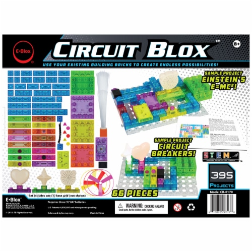 E-Blox Circuit Blox Building Set Perspective: back