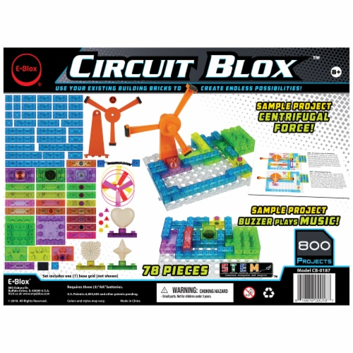 E-Blox Circuit Blox Induction Spinner Building Toy Perspective: back