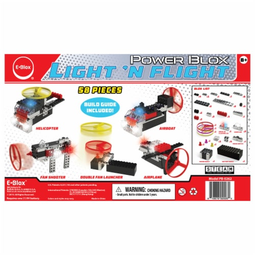 E-Blox Power Blox Light 'N Flight Building Toy Perspective: back