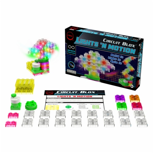 E-Blox Lights N' Motion LED Building Blocks Perspective: back