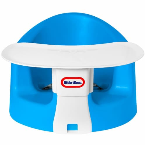 Little Tikes My First Seat Infant Foam Floor Chair with Feed and Play Tray, Blue Perspective: back