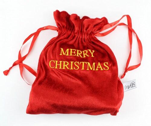 Midlee Santa's Gift Bag Dog Toy Perspective: back