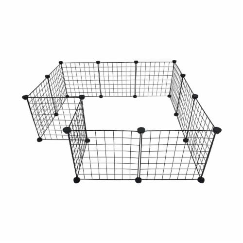 Midlee Guinea Pig Grid Cage Panels- Set of 12 Perspective: back