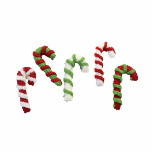 Midlee Designs Candy Cane Wool Candy Cane Filled Cat Toys Perspective: back