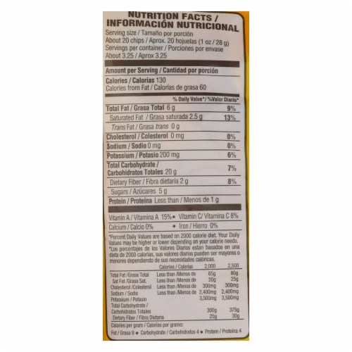 Inka Crops - Plantain Chips - Sweet - Case of 12 - 3.25 oz. Perspective: back