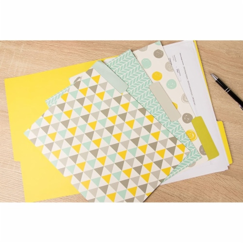 File Folders with Geometric Design, Letter Size (9.5 x 11.5 Inches, 12 Pack) Perspective: back