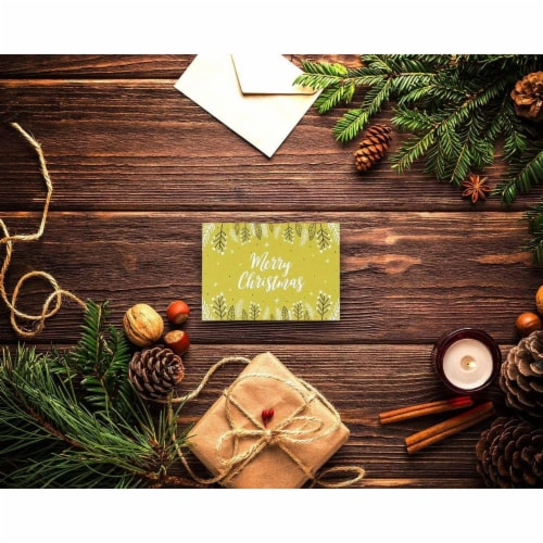 Modern Festive Christmas Cards with Envelopes, Winter Holiday Designs (4 x 6 In, 48 Pack) Perspective: back