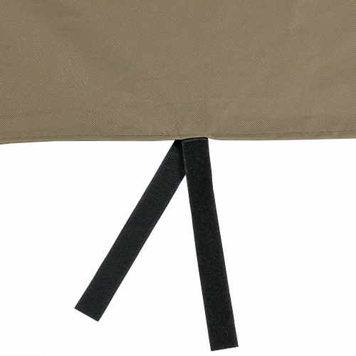 """Sunnydaze Log Hoop Cover for Firewood Polyester with PVC Backing - Khaki - 40"""" Perspective: back"""